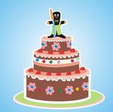 Cake for children Royalty Free Stock Image