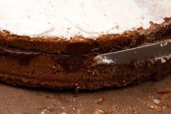 Cake, chocolade en suiker Stock Fotografie