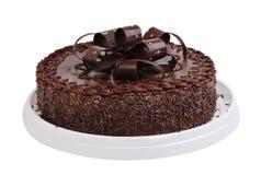 Cake chocolate. Isolated on white background stock photo