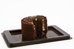 Cake chocolate. On white background Stock Images