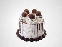Cake or chocolate cake on a background. Cake or chocolate cake on a background royalty free stock image