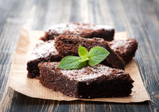 Cake chocolate brownies Stock Photography