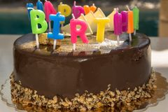 Cake, Chocolate Cake, Dessert, Birthday Cake stock photo