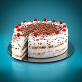 Cake with chocolate chips Royalty Free Stock Images