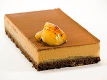 Cake chocolate with cream Royalty Free Stock Photos