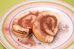 Cake with chocolate cream Royalty Free Stock Image