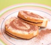 Cake with chocolate cream Stock Photography