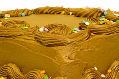 Cake with chocolate fosting Stock Images