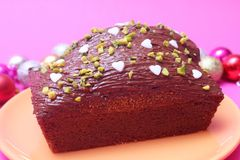 Cake with chocolate Royalty Free Stock Images