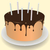 Cake chocolate frosting Royalty Free Stock Image