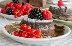 cake with chocolate Stock Photo