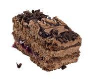 Cake chocolate isolated Stock Photo