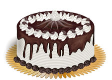 Cake with chocolate Stock Images