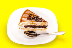 Cake with a chocolate layer Royalty Free Stock Image
