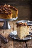Cake with chocolate and nuts streusel Royalty Free Stock Photos