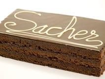Cake chocolate Sacher Royalty Free Stock Photos