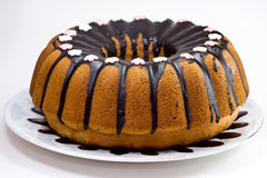 Cake with chocolate sause Stock Images
