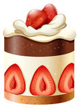 Cake with chocolate and strawberry Stock Photo