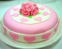 Cake. Christening cake for baby girl Royalty Free Stock Photo