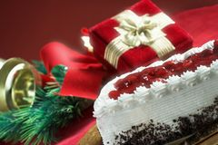 Cake for christmas royalty free stock photography