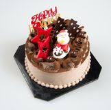 Cake or christmas cakes with santa on a background. Cake or christmas cakes with santa on a background Stock Images
