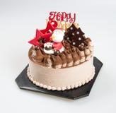 Cake or christmas cakes with santa on a background. Cake or christmas cakes with santa on a background Stock Photos