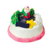 Cake, Christmas ice cream cake Royalty Free Stock Photo