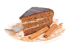 Cake and cinnamon Royalty Free Stock Images