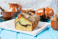 Cake with cinnamon and cinnamon crunchy crust Royalty Free Stock Photography