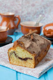 Cake with cinnamon and cinnamon crunchy crust Stock Photo