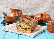 Cake with cinnamon and cinnamon crunchy crust Stock Photography