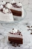 Cake with cocoa and cream Stock Photo