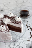 Cake with cocoa and cream Royalty Free Stock Images