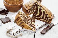 Cake with cocoa  powder Stock Photo