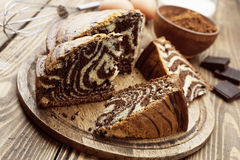 Cake with cocoa  powder Stock Image