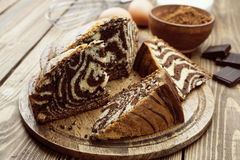 Cake with cocoa  powder Stock Photography
