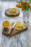 Cake with coconut and ricotta cheese Stock Image