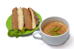 Cake with coffe Royalty Free Stock Photography