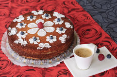 Cake and coffe Stock Images