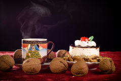 Cake and coffe Royalty Free Stock Photography