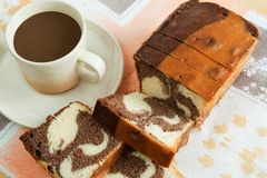 Cake with coffee Stock Image