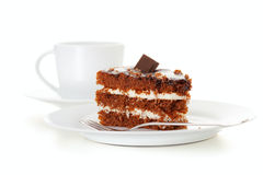 Cake and coffee. On the table Stock Photography