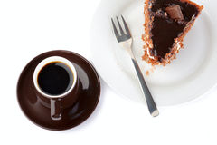 Cake and coffee. On the table Royalty Free Stock Photography