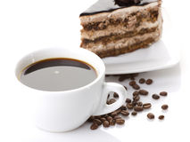 Cake and coffee Royalty Free Stock Image
