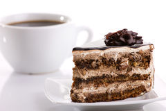 Cake and coffee Stock Photos