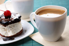 Cake and coffee cup Stock Image