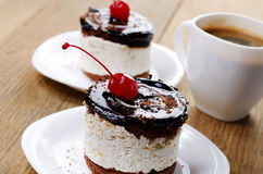 Cake and coffee cup Stock Photography