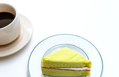 Cake and coffee cup Royalty Free Stock Photography