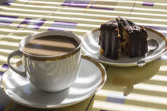 Cake and coffee. Stock Image