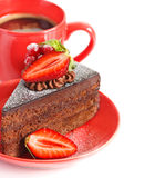 Cake and coffee. Stock Images